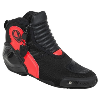 SCARPE DAINESE DYNO D1 SHOES - BLACK FLUO RED