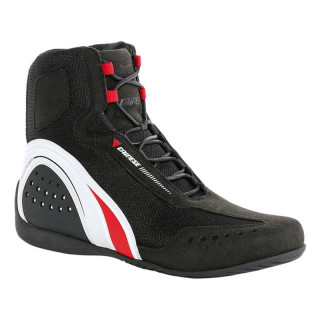 DAINESE MOTORSHOE AIR SHOES JB - BLACK WHITE RED