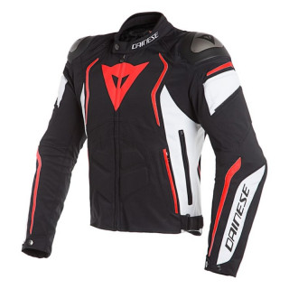 GIACCA DAINESE DYNO JACKET - BLACK WHITE FLUO RED