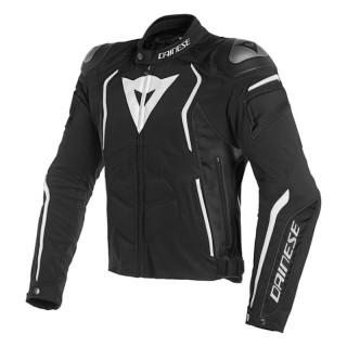 GIACCA DAINESE DYNO JACKET - BLACK WHITE
