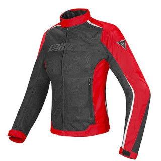 DAINESE HYDRA FLUX LADY D-DRY JACKET - BLACK RED WHITE