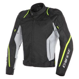 GIACCA DAINESE AIR MASTER TEX JACKET - BLACK GLACIER GREY FLUO YELLOW