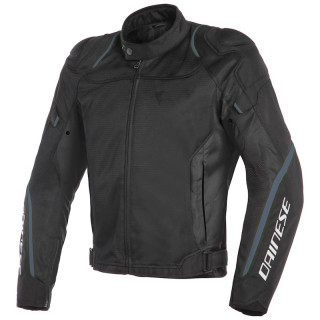 GIACCA DAINESE AIR MASTER TEX JACKET - BLACK BLACK ANTHRACITE