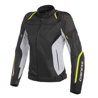 DAINESE AIR MASTER LADY TEX JACKET - BLACK GLACIER GREY FLUO YELLOW
