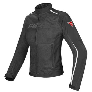 DAINESE HYDRA FLUX LADY D-DRY JACKET - BLACK DARK GULL GRAY FLUO YELLOW