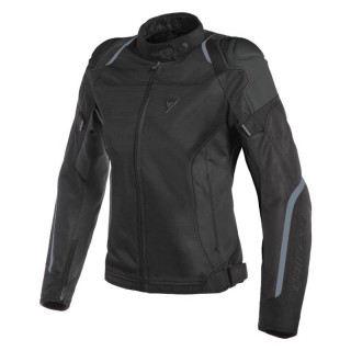 GIACCA DAINESE AIR MASTER LADY TEX JACKET - BLACK BLACK ANTHRACITE