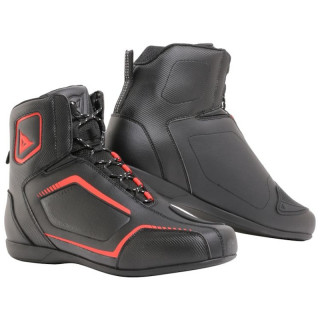 DAINESE RAPTORS SHOES - BLACK FLUO RED