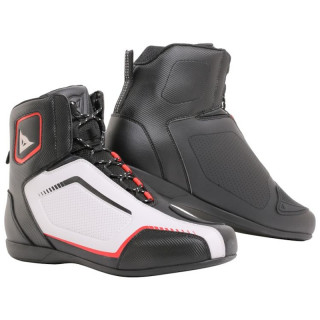 SCARPE DAINESE RAPTORS AIR SHOES - BLACK WHITE LAVA RED