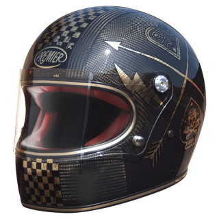 PREMIER TROPHY CARBON NX HELMET - GOLD CHROMED