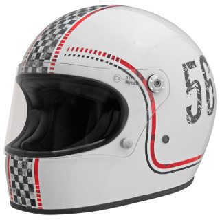 PREMIER TROPHY 56 COLORS HELMET - WHITE RED BLACK
