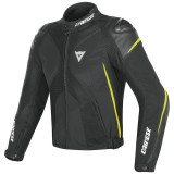 DAINESE SUPER RIDER D-DRY JACKET - BLACK-YELLOW FLUO