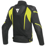 DAINESE SUPER RIDER D-DRY JACKET - BLACK-YELLOW FLUO - BACK