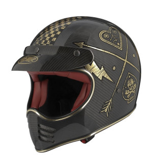 PREMIER MX CARBON NX GOLD CHROMED HELMET