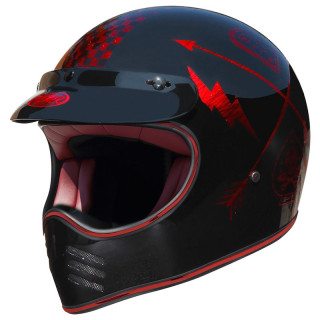 PREMIER MX NX CHROMED HELMET - RED CHROMED