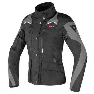 DAINESE TEMPEST LADY D-DRY JACKET - BLACK DARK GULL GREY