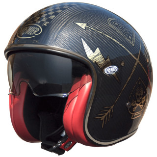 PREMIER VINTAGE CARBON NX GOLD CHROMED HELMET