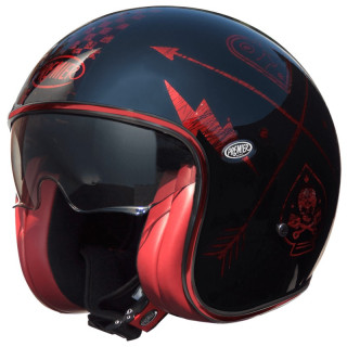 PREMIER VINTAGE NX HELMET - RED CHROMED