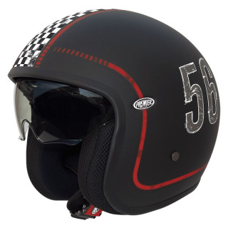 PREMIER VINTAGE FL HELMET - MATT BLACK RED GRAY