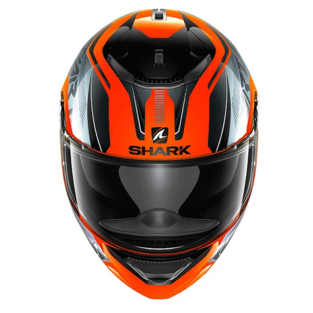 CASCO SHARK SPARTAN KARKEN HI-VIS ORANGE BLACK - FRONTE