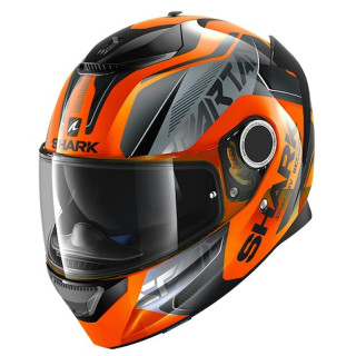 SHARK SPARTAN KARKEN HI-VIS HELMET - ORANGE BLACK