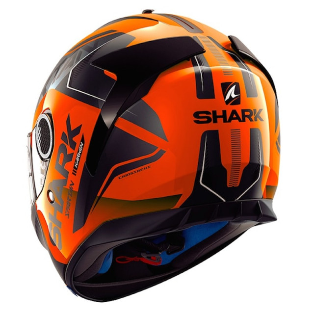 CASCO SHARK SPARTAN KARKEN HI-VIS ORANGE BLACK - RETRO