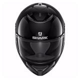 SHARK SPARTAN BLANK HELMET BLACK - FRONT