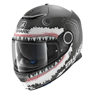SHARK SPARTAN REPLICA LORENZO HELMET - BLACK WHITE ANTHRACITE