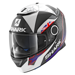 SHARK SPARTAN REPLICA REDDING MAT HELMET - BLACK BLUE WHITE