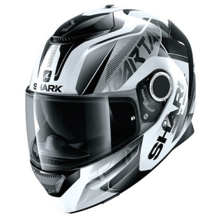 CASCO SHARK SPARTAN KARKEN - WHITE BLACK