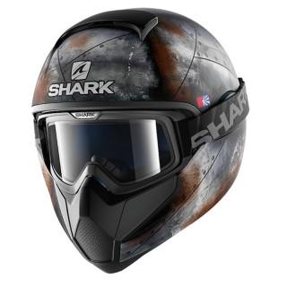 SHARK VANCORE FLARE MAT HELMET - BLACK ANTHRACITE ORANGE