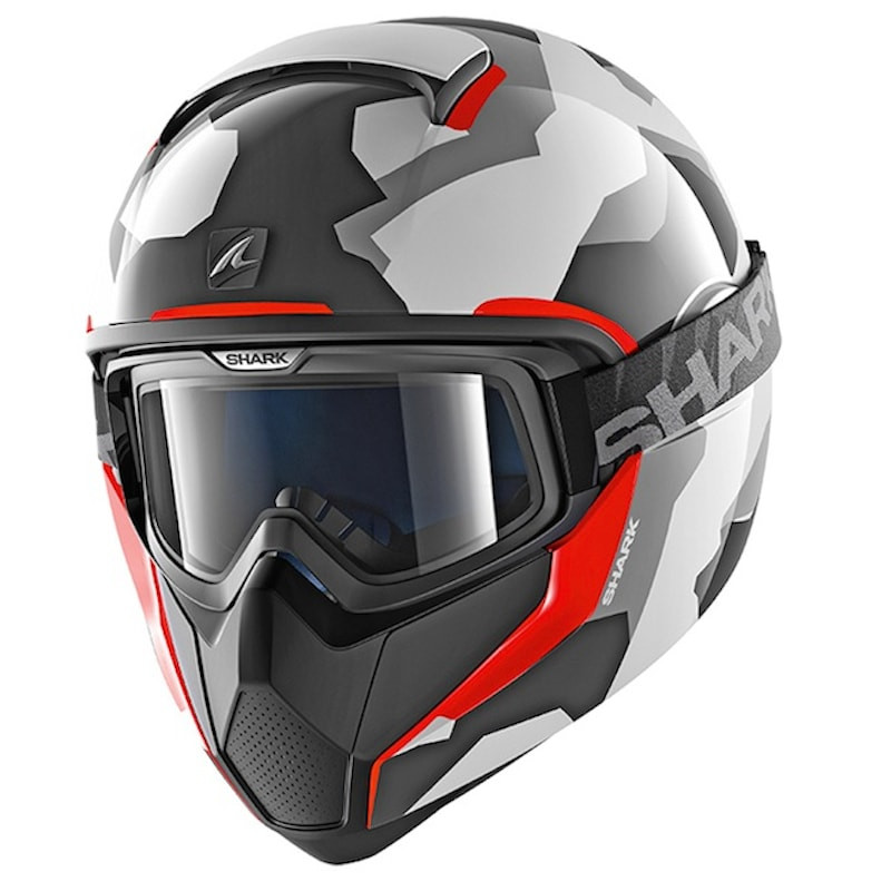 CASCO SHARK VANCORE WIPEOUT - WHITE ANTHRACITE RED