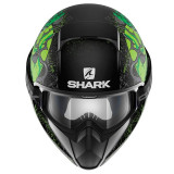 CASCO SHARK VANCORE ASHTAN MAT BLACK GREEN GREEN - FRONTE