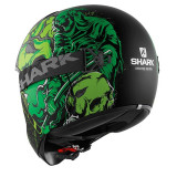 CASCO SHARK VANCORE ASHTAN MAT BLACK GREEN GREEN - RETRO