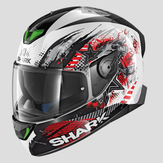 CASCO SHARK SKWAL 2 SWITCH RIDERS 1 - WHITE BLACK RED