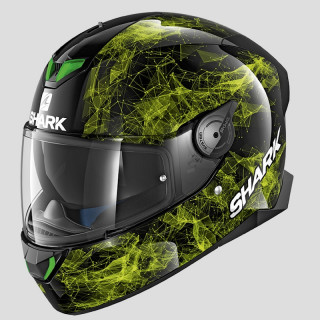 SHARK SKWAL 2 HIYA HELMET - BLACK GREEN
