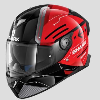 CASCO SHARK SKWAL 2 WARHEN - BLACK RED