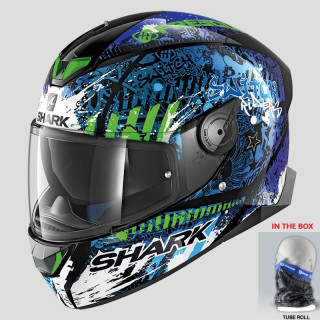 CASCO SHARK SKWAL 2 SWITCH RIDER 2 - BLACK BLUE GREEN