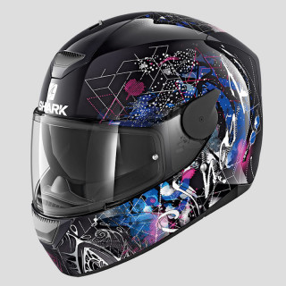 CASCO SHARK D-SKWAL ANYAH - BLACK WHITE BLUE