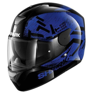 SHARK D-SKWAL HIWO HELMET - BLACK BLUE