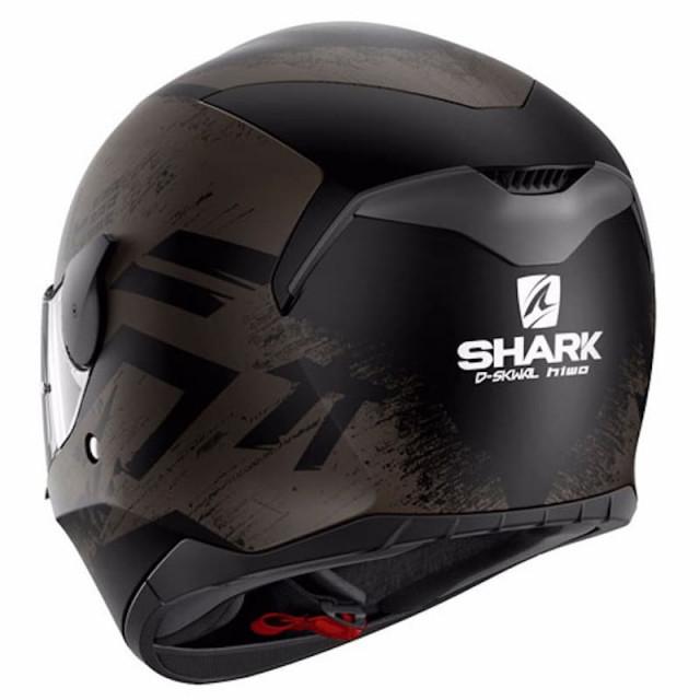 SHARK D-SKWAL HIWO MAT HELMET BLACK ANTHRACITE - BACK