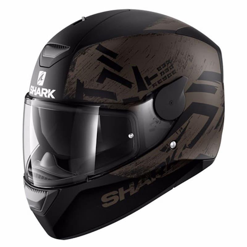 SHARK D-SKWAL HIWO MAT HELMET - BLACK ANTHRACITE