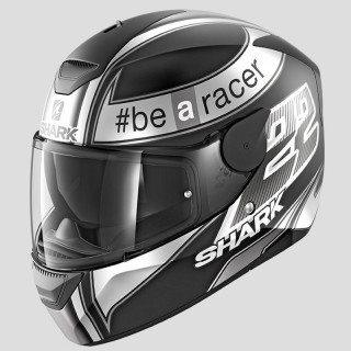SHARK D-SKWAL REPLICA SAM LOWES HELMET - BLACK ANTHRACITE WHITE