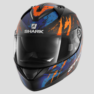 CASCO SHARK RIDILL THREEZY MAT - MAT BLACK ORANGE BLUE