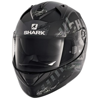 CASCO SHARK RIDILL SKYD MAT - MAT BLACK ANTHRACITE SILVER