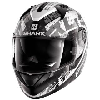 SHARK RIDILL KENGAL HELMET - WHITE BLACK SILVER
