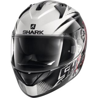 SHARK RIDILL FINKS HELMET - WHITE BLACK RED