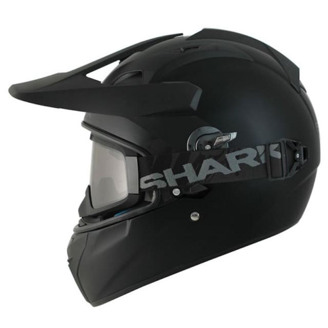 SHARK EXPLORE-R BLANK MAT HELMET MAT BLACK - SIDE