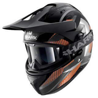 CASCO SHARK EXPLORE-R PEKA MAT - MAT BLACK ANTHRACITE ORANGE