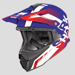 SHARK VARIAL ANGER HELMET - BLUE WHITE RED