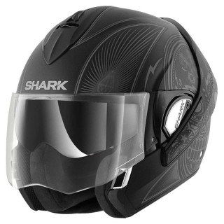 SHARK EVOLINE SERIES 3 MEZCAL MAT HELMET - MAT BLACK ANTHRACITE SILVER